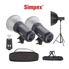 Simpex Studio Light 23 Rt Price Simpex Sl 500 Kit Studio Light Kit 500w Including 2 X Lights 2 X Octa 95 Soft Box 1 Remote Controller And 1 Carry Bag
