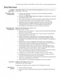 Police Officer Resume Templates Retired Police Officer Resume Police  Officer Resume Templates ...