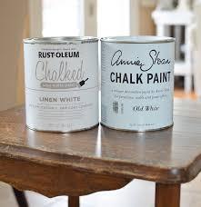 Porters Chalk Paint Colour Chart Annie Sloan Chalk Paint Vs Rust Oleum Chalked Paint