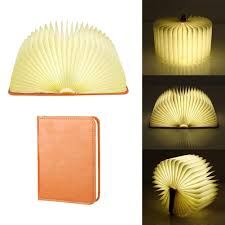 Mood Lamp Book Light 2019 Rechargeable Led Mood Lighting Multi Color Night Light Wooden Foldable Book Shaped Light Perfect As Book Lamp Table Lamp From Amarylly 31 42