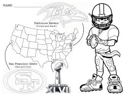 Super Bowl Coloring Page With A