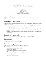 Objectives For Entry Level Resumes Medical Office Assistant Resume