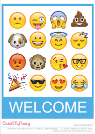 Free Printable Welcome Cards Free Emoji Party Printables For An Amazing Party Catch My Party