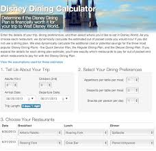 wdw dining reservation calculator