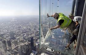 crews repair coating on skydeck39s ledge after s reported nbc news