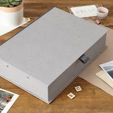 Box Files Decorative Linen fabric Boxfile luxury box file Harris and Jones SH 48