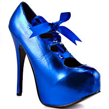 Royal Blue Designer Shoes Buy Royal Blue Red Patent Leather Pumps Bowknot Women High