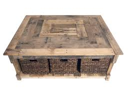 rustic square coffee table with storage