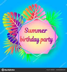 Neon Birthday Invitation Template Bright Ready Mock