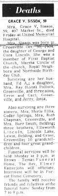 Montcalm County, Michigan - Obituaries -S-