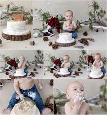 Lumberjack Cake Smash First Birthday Boy Niecesfuture Children