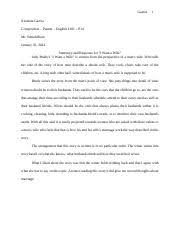 english integrated reading and writing south texas 2 pages journal entry 2 i want a wife summary and response