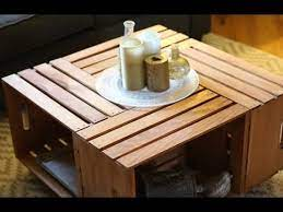 build a coffee table using crates