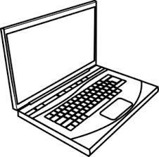 laptop clipart. thick laptop clip art clipart