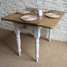 Victorian Double Drop Leaf Kitchen Table With Legs Painted With
