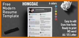 8 9 Contemporary Resume Templates Word Leterformat
