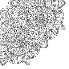 Small Picture Flower Mandala Coloring book 30 Pages Printable Pdf Blank