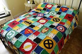 Superhero Quilt | Joyful Mum & Superhero Rag Quilt Adamdwight.com