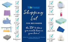 Norwex Shipping Chart 2017 A Norwex Shopping List For Beginners How To Get Started