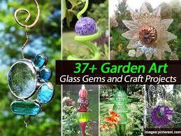 garden art projects. 37 + Garden Art Glass Gems And Craft Projects D
