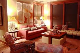 image of red living room decor style