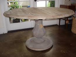 rustic round kitchen table. verona round rustic dining table reclaimed wood with fluted balustrade base top is composed kitchen