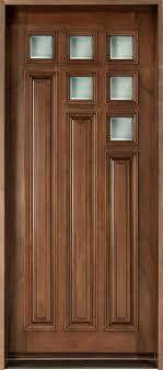 cherry solid wood front entry door single