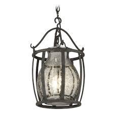 transitional style interior lighting with chianti bronze 3 light pendant light antique silver mercury glass