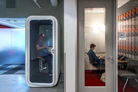 Microsoft office redmond Casual Phoneboothstyle Room For Privacy Left And An Isolation Room Nutritionfood The Message From Office Makeovers At Microsoft Ibm Ge Dont Get