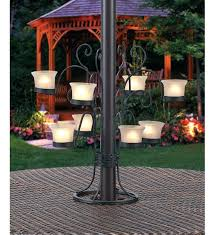 phenomenal patio umbrella eight votive candle holder image outdoor patio candle chandelier