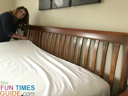 how to do triple sheeting to make the bed like hotels do step 2
