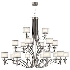 lacey antique pewter 18 light chandelier