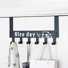 detachable <b>6 hooks</b> door <b>hanger</b> cartoon clothes bags organizer ...