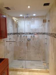 frameless in line shower doors