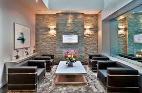 fireplace good ideas for living room decoration using grey stone veneer heart along with double wall media room modern sconces