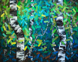 aspen tree art painting birch tree painting contemporary art contemporary artist abstract on canadian artist wall art with sold two paintings one lucky collector inside peace 60 x48 a