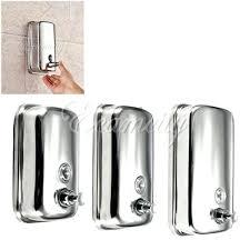 bathroom kitchen stainless steel wall mounted lotion pump soap shampoo dispenser wall shampoo dispenser best wall