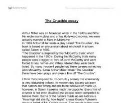 the crucible theme essay essay writing uk images the crucible theme essay the crucible essay topics great selection of topics for
