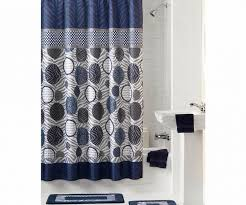 gray dark blue fabric shower curtains