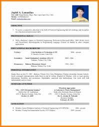 Philippine Biodata Form Download Resume Format Job Application