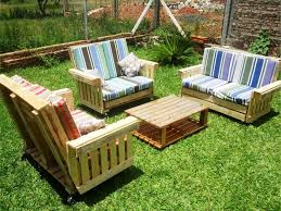 pallet patio furniture. cushioned pallet garden sitting furniture patio t