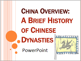 History Of Chinas Dynasties Powerpoint Presentation