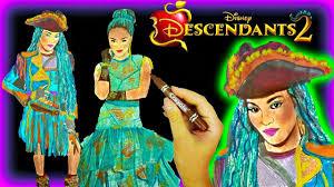 Disney Descendants 2 Color Uma Wickedly Cool Coloring Book Youtube