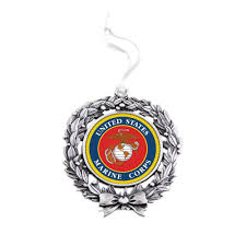 us marine corps wreath ornament zoom
