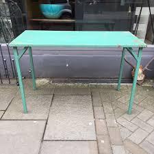 vintage green metal table