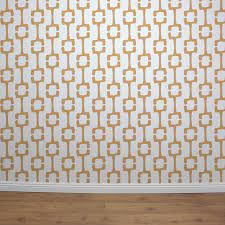 tiki retro wall stencil contemporary