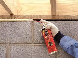 spray foam insulation touch
