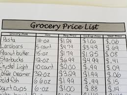 Grocery List Prices How To Use A Grocery Price List No Getting Off This Train