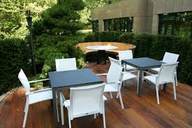 Commercial Outdoor Relaxation Seating And Dining Area With