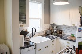 Decorate Apartment Kitchen Apartment Small Apartment Kitchen With L Shaped Cabinets Also